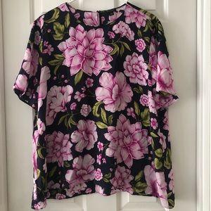Ann Taylor Silk Floral Top